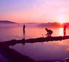 Adirondack Mountains, Lake at Sunset by WhoTLEoyd
