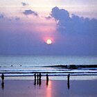 Sunset at Kuta Beach by Wayne Gerard Trotman