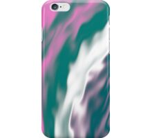 Colorful cold flames abstraction iPhone Case/Skin