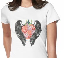 Patchwork Strawberry Womens Fitted T-Shirt