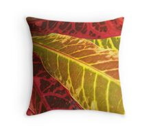 Colourful Croton Throw Pillow