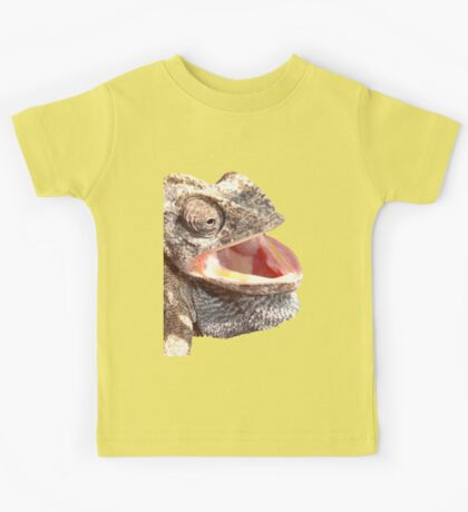 Chameleon with Happy Smiling Expression Vector Kids Tee