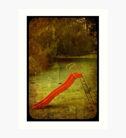 lonely slide Art Print