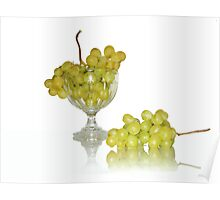 Cup of white grape Poster