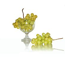 Cup of white grape Photographic Print
