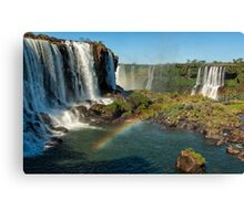 Iguazu Falls Rainbow Canvas Print