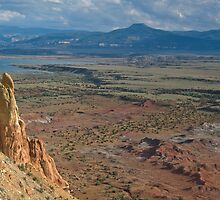 Chimney Rock and the Pedernal at Georgia O'Keefe's Ghost Ranch by Mitchell Tillison