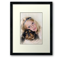 Me and my dog Boots Framed Print