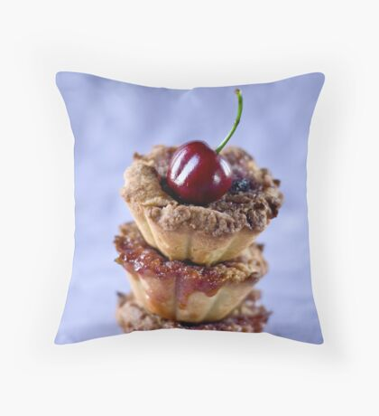 Cherry tarts Throw Pillow