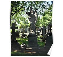 Church Yard Gravestones Poster