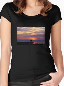 Sunset at the Gazebo Women's Fitted Scoop T-Shirt