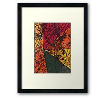 Corner Splatter # 11 Framed Print