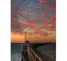 Evening Walk Along the Jetty Photographic Print
