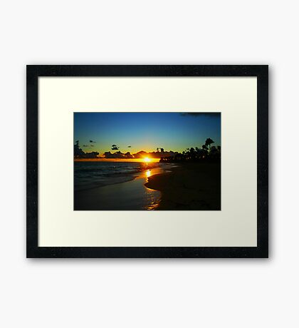 Carribean Sunrise Framed Print