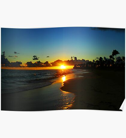 Carribean Sunrise Poster
