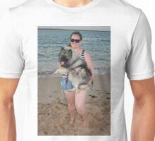 19. Bree & her Keeshond Unisex T-Shirt