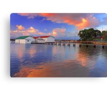 Mosman Bay Boatsheds  Canvas Print