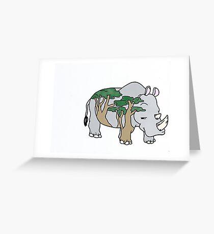 Sly Rhino Greeting Card