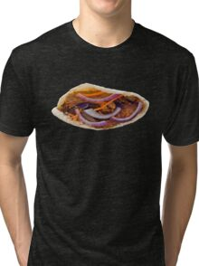 Chicken Kebab in a Pita Bread Tri-blend T-Shirt