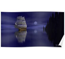 Sailing By Moonlight Poster