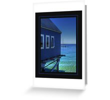 Blue View... Greeting Card