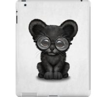 Cute Baby Black Panther Cub Wearing Glasses  iPad Case/Skin