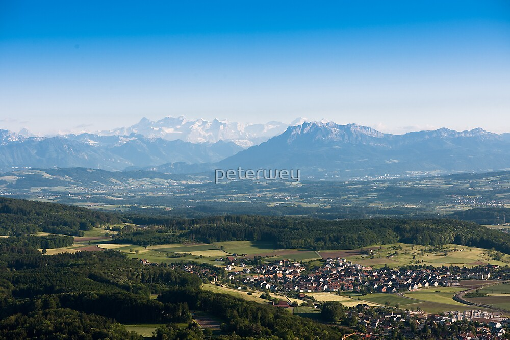 scenic view from uetliberg by peterwey