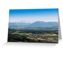 scenic view from uetliberg Greeting Card
