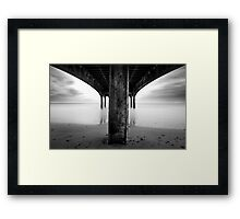 below the pier Framed Print
