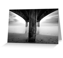 below the pier Greeting Card