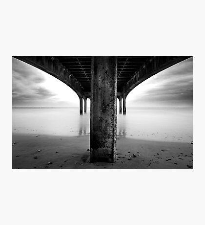 below the pier Photographic Print