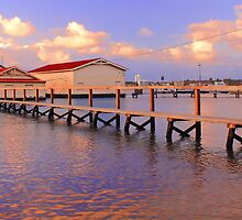 Boatsheds On The Swan At Sunset   by EOS20