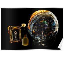 celestial globe in celestial light: she walks among the stars Poster