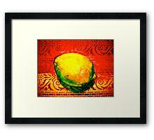 The Lemon Framed Print