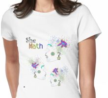 """She Math Multi""© Womens Fitted T-Shirt"