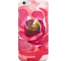 Watercolor Pink Peony iPhone Case/Skin