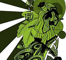 samurai teeshirt scnd version by dnlddean