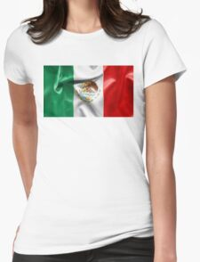 Mexico Flag Womens Fitted T-Shirt
