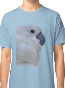 Side Portrait Of A Blue-Eyed Cockatoo Isolated Classic T-Shirt