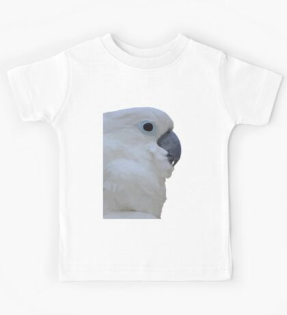Side Portrait Of A Blue-Eyed Cockatoo Isolated Kids Tee