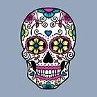 Purple Sugar Skull by TeaTimeIsOver