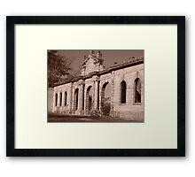 Facade of History Framed Print