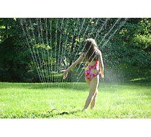 Sprinkler Dancing Photographic Print