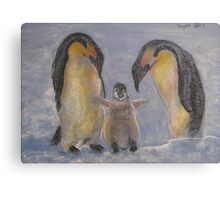 Arctic Family Canvas Print