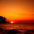 Sunset at Store Bay by Wayne Gerard Trotman