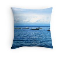 Empty Boats Throw Pillow
