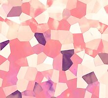 Mod Geometric Abstract Pattern Pink Retro Pastel by GirlyTrend