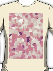 Mod Geometric Abstract Pattern Pink Retro Pastel T-Shirt