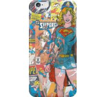 Vintage Comic Supergirl iPhone Case/Skin