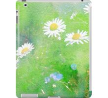 Daisies and Forget Me Not Flowers iPad Case/Skin
